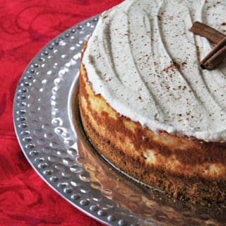 Eggnog Cheesecake and a CHRISTMAS GIVEAWAY!!!