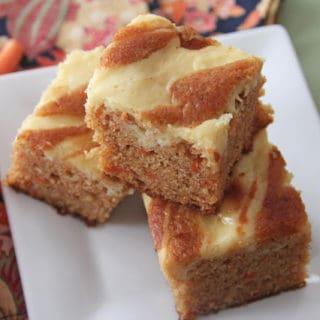 carrotbar2 320x320 - Mango Carrot Cake Swirl Bars