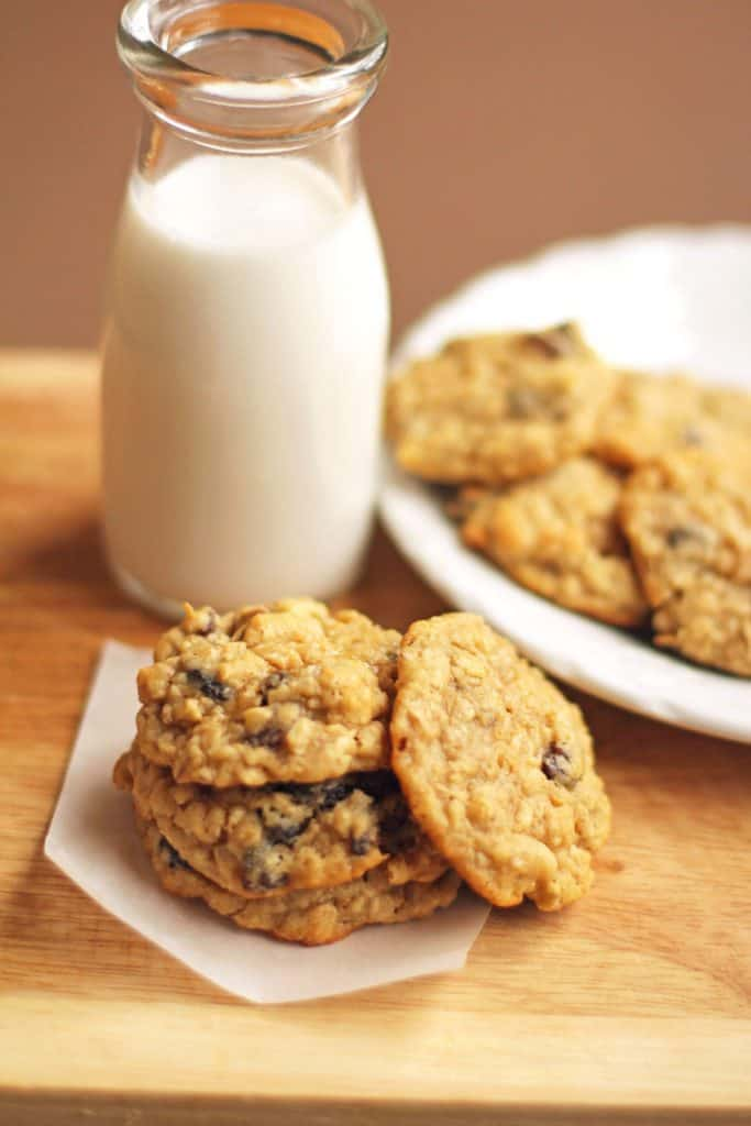 Chewy Oatmeal Raisin Cookies Recipe | Grandbaby Cakes