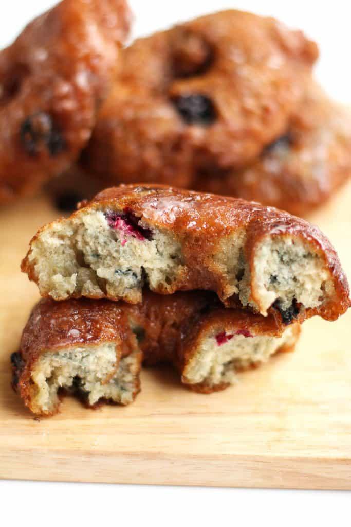 Blueberry Glazed Doughnuts | Grandbaby Cakes