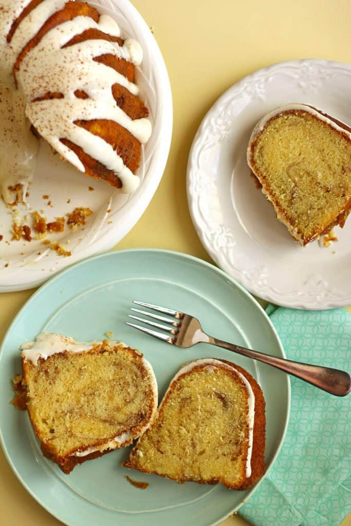 Cinnamon Roll Pound Cake | Grandbaby Cakes