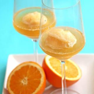 Orange Sorbet Mimosa