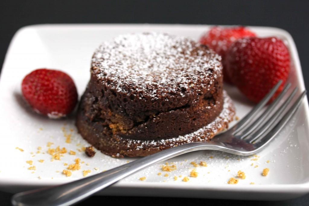s'more lava cake
