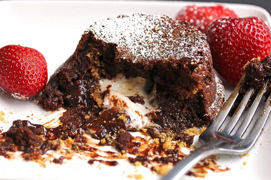 smore lava cake