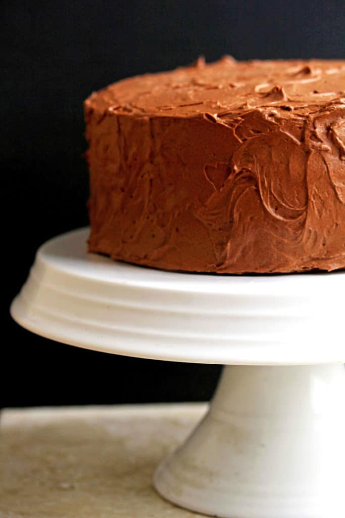Yellow Cake Recipe with Chocolate Frosting | Grandbaby Cakes