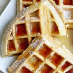 The BEST Buttermilk Waffles Recipe | Grandbaby Cakes