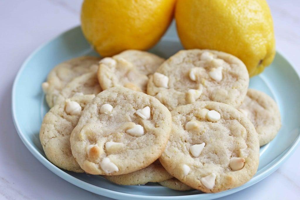 Lemon White Chocolate Chip Cookies  Grandbaby Cakes