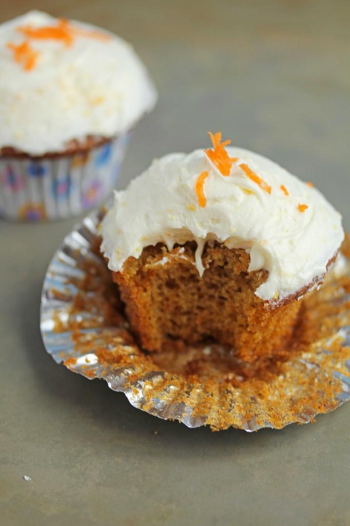 Orange Carrot Cupcakes | Grandbaby Cakes