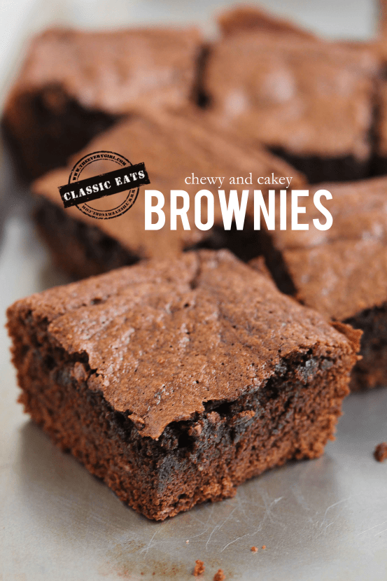 chewy or cakey brownies