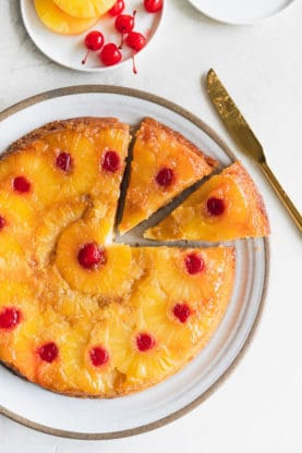 pineapple upside down cake web 1 277x416 - Pineapple Upside Down Cake Recipe (And How To Video)