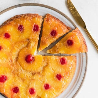 pineapple upside down cake web 1 320x320 - Pineapple Upside Down Cake Recipe (And How To Video)