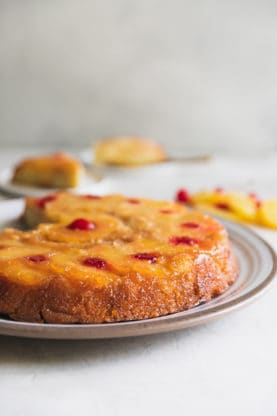pineapple upside down cake web2 277x416 - Pineapple Upside Down Cake Recipe (And How To Video)