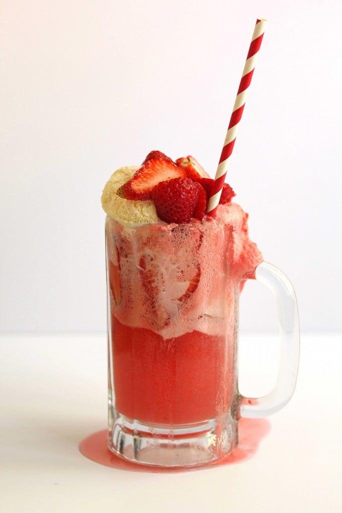Strawberry Ice Cream Float Strawberry ice cream float