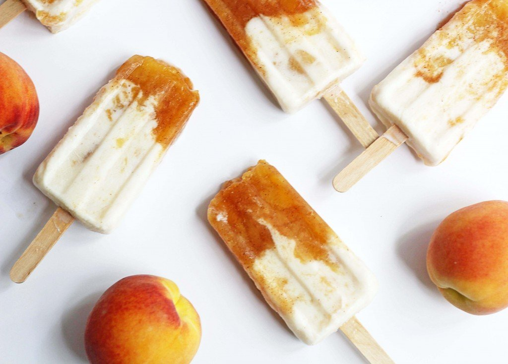 peaches and cream popsicle 1 1024x734 - Peaches and Cream Popsicles