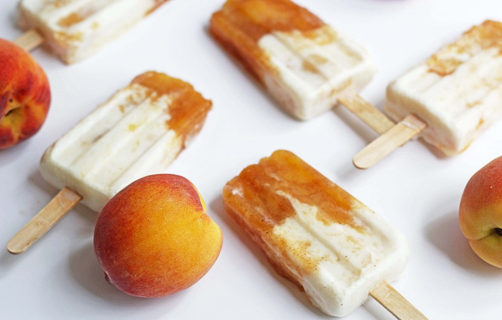 peaches and cream popsicles 2 1024x653 - Peaches and Cream Popsicles