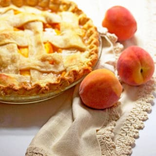 Fresh Peach Pie Recipe | Grandbaby Cakes