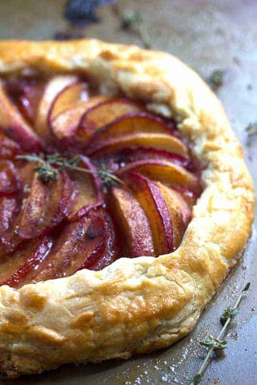 The extraordinary combination of plum and nectarine flavors on top of the flakiest crust ever! This plum nectarine galette is fantastic!!