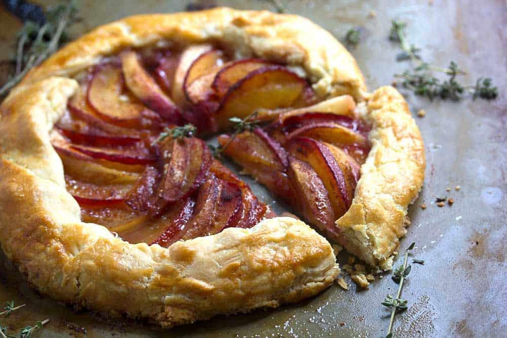 plum nectarine galette