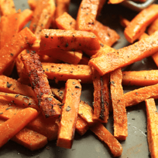 Garlic Butter Sweet Potato Fries