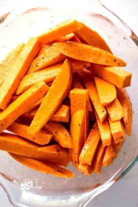 Sweet potato fries 3 277x416 - Garlic Butter Sweet Potato Fries