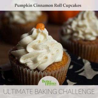 Pumpkin Cinnamon Roll Cupcakes | Grandbaby Cakes