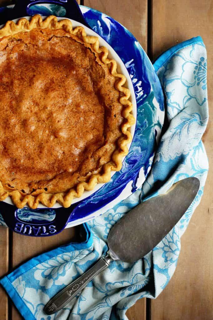 brown sugar chess pie 1 copy 683x1024 - Brown Sugar Chess Pie Recipe