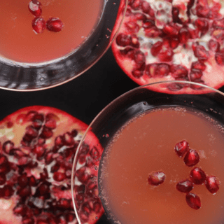 Pomegranate Orange Champagne Cocktail