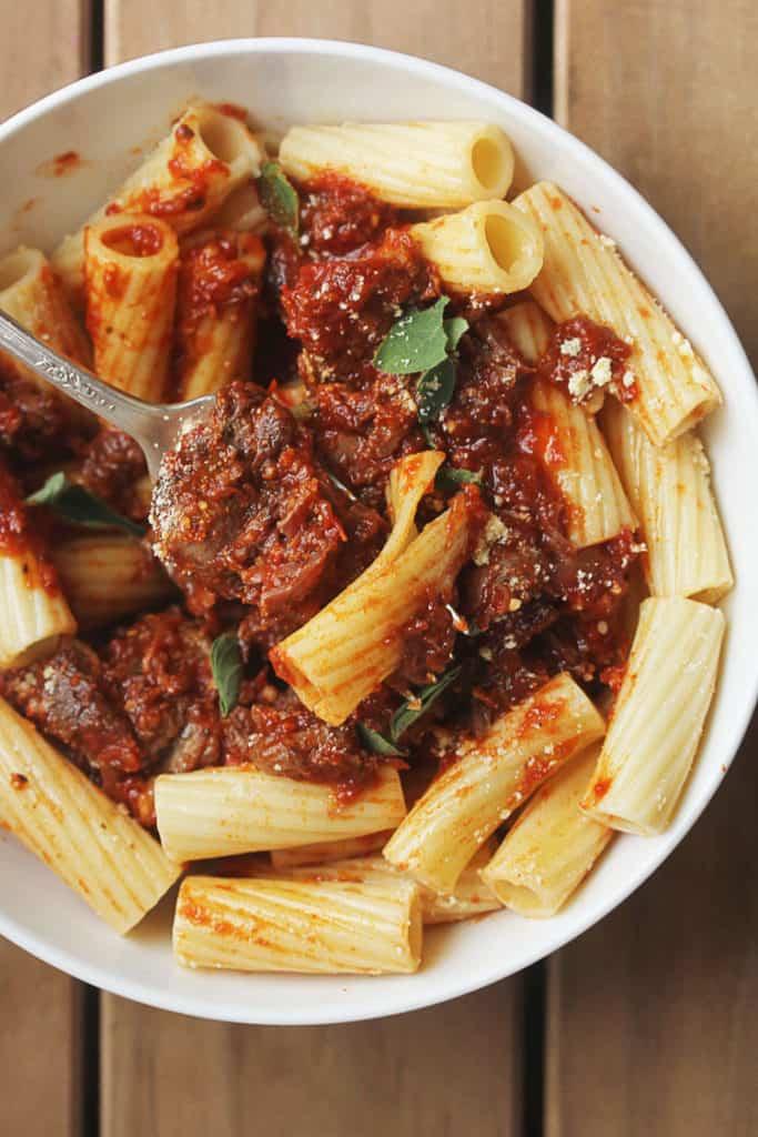 nanas italian pot roast 3 683x1024 - Italian Pot Roast with Bolognese Sauce