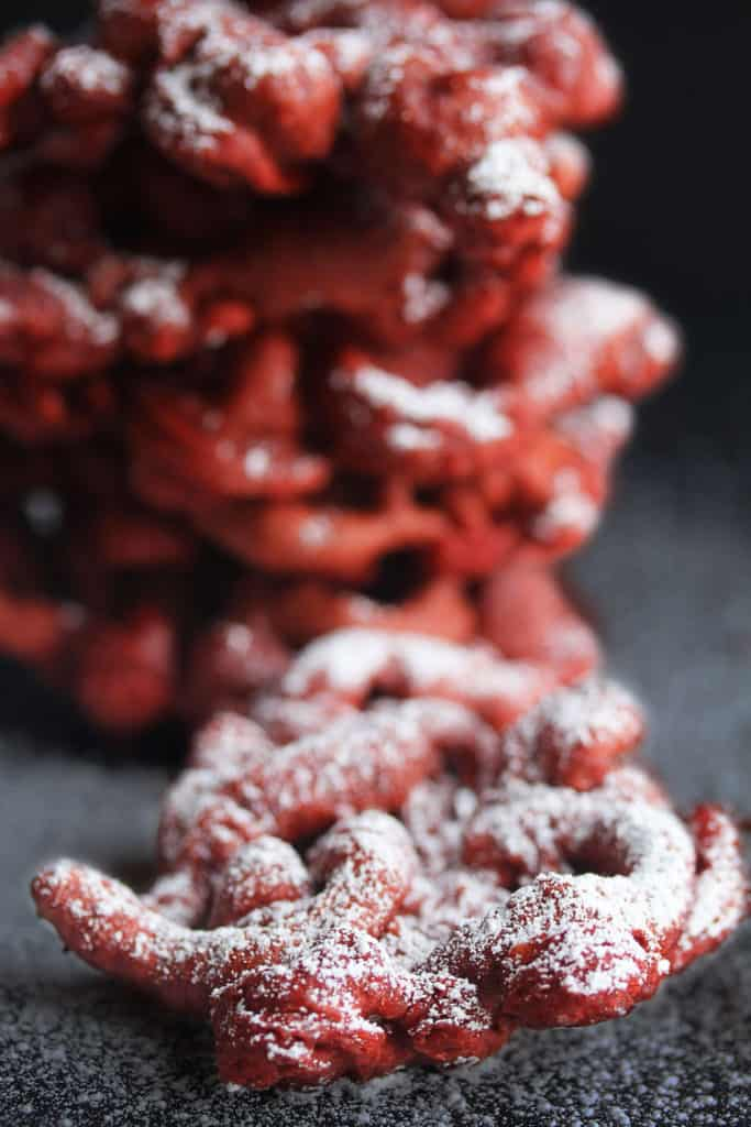 red velvet funnel cakes 3 683x1024 - Red Velvet Funnel Cakes