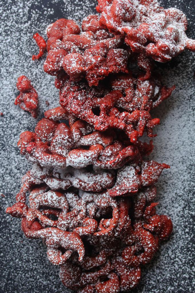 Red Velvet Funnel Cakes | Grandbaby Cakes