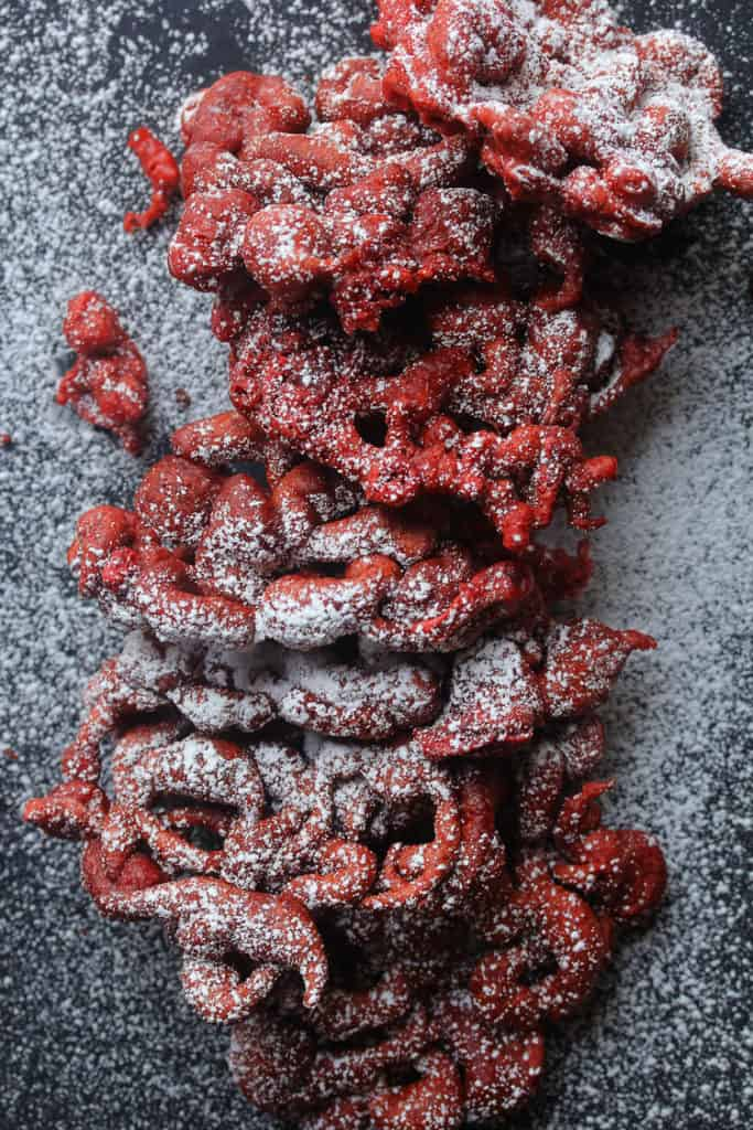 red velvet funnel cakes 4 683x1024 - Red Velvet Funnel Cakes