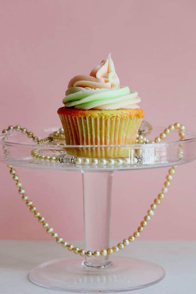 AKA Vanilla Cupcakes 1 copy1 683x1024 - Pink and Green Vanilla Cupcakes