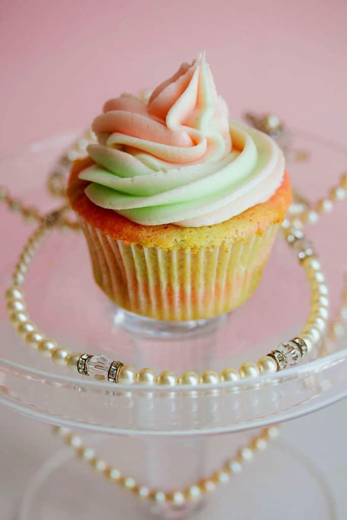AKA Vanilla Cupcakes 2 copy1 683x1024 - Pink and Green Vanilla Cupcakes