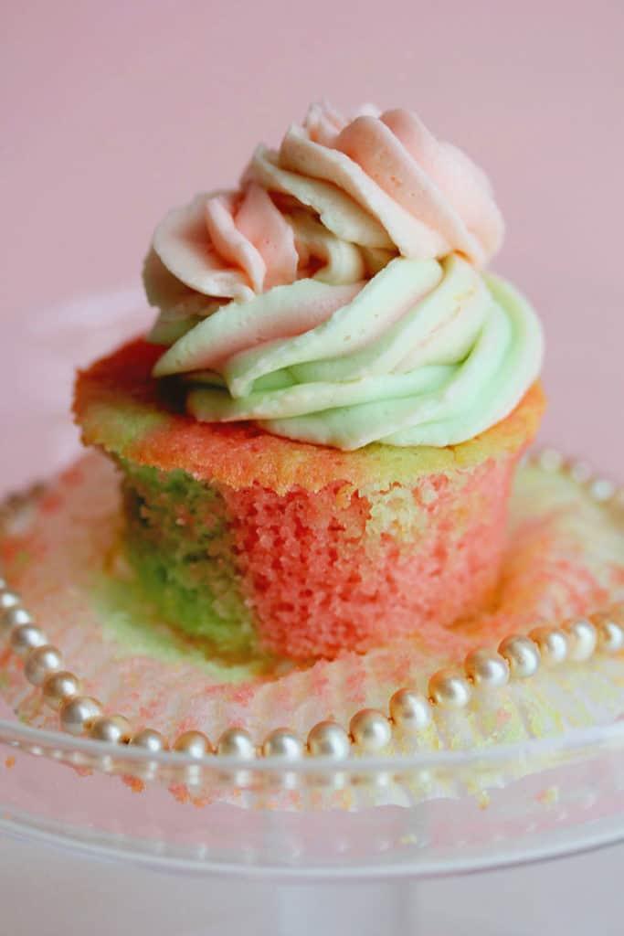 AKA Vanilla Cupcakes 3 copy1 683x1024 - Pink and Green Vanilla Cupcakes
