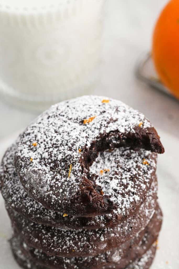 Flourless Chocolate Orange Cookies 1 683x1024 - Flourless Chocolate Orange Cookies