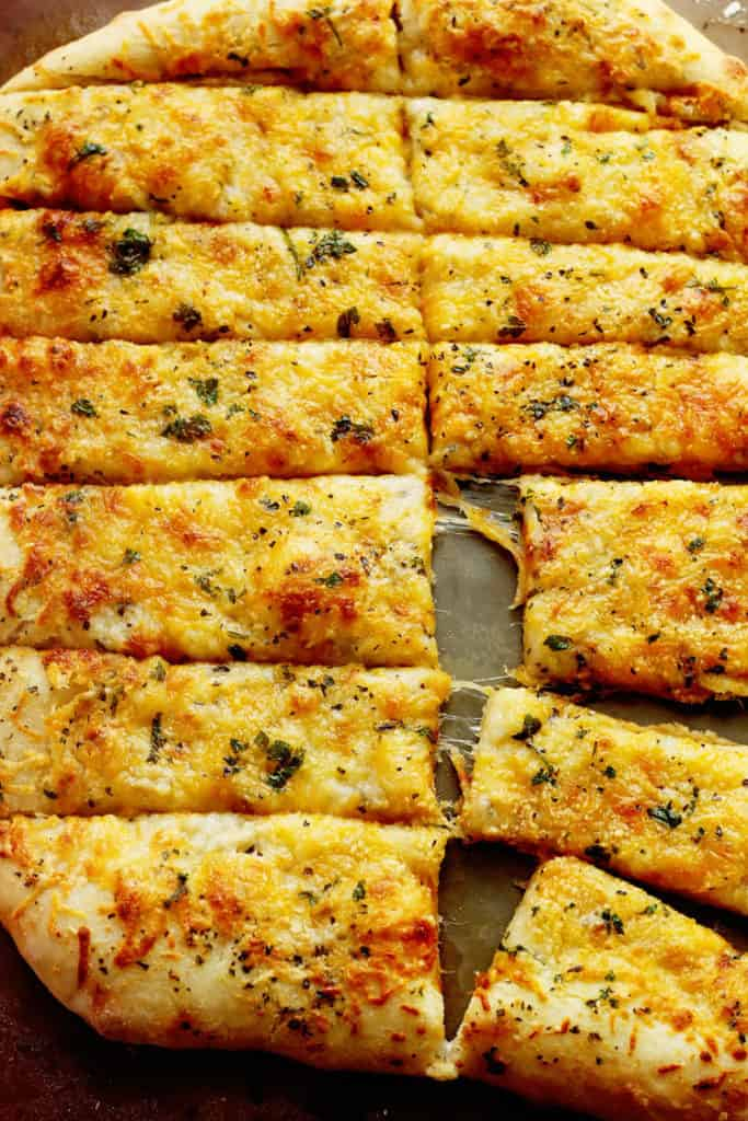 Garlic Cheese Breadsticks | Grandbaby Cakes