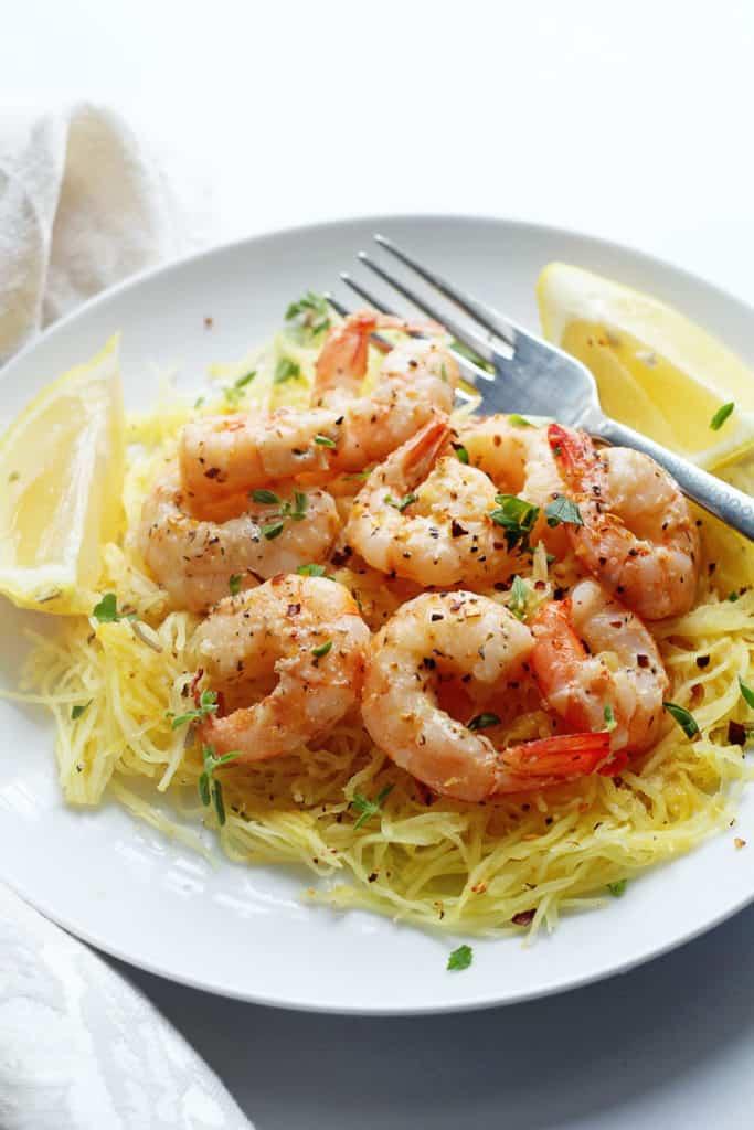... Light Shrimp Scampi with Spaghetti Squash on BHG Delish Dish today