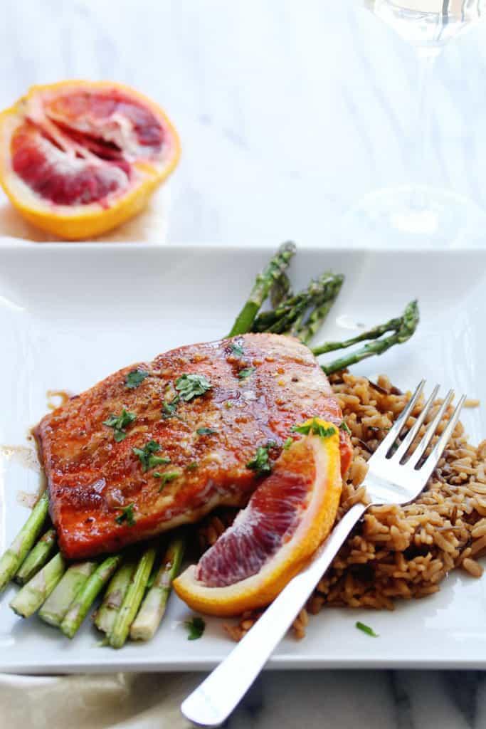 Blood Orange Glazed Salmon | Grandbaby Cakes