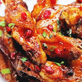Pomegranate Honey Wings