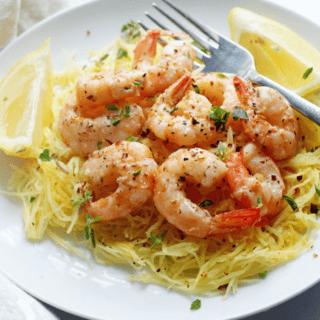 Light Shrimp Scampi with Spaghetti Squash | Grandbaby Cakes