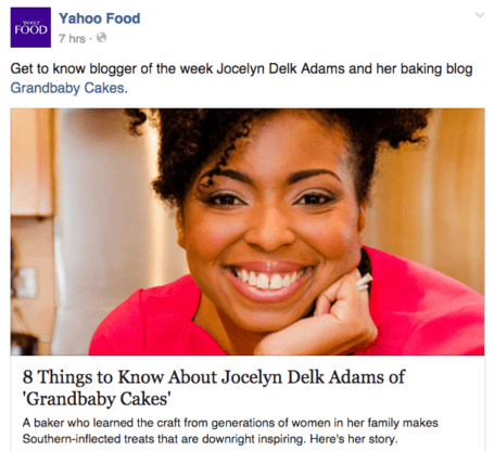 Yahoo! Food Blogger of the Week!