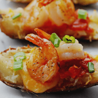 Shrimp Nacho Potato Skins