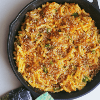 Butternut Squash Broccoli Mac and Cheese