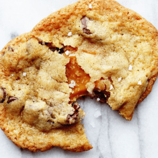 Salted Caramel Chocolate Chip Cookies | Grandbaby Cakes