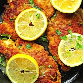 breaded chicken piccata 2 320x320 - Lemon Chicken Piccata Recipe