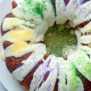 easy king cake 2 320x320 - Mardi Gras King Cake
