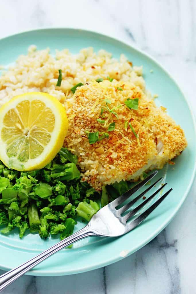 Baked cod with panko and lemon for Lemon fish recipe