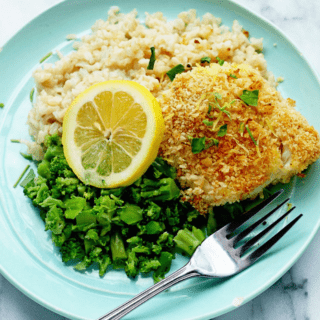 Lemon Panko Crusted Fish | Grandbaby Cakes #omahasteaks #ad