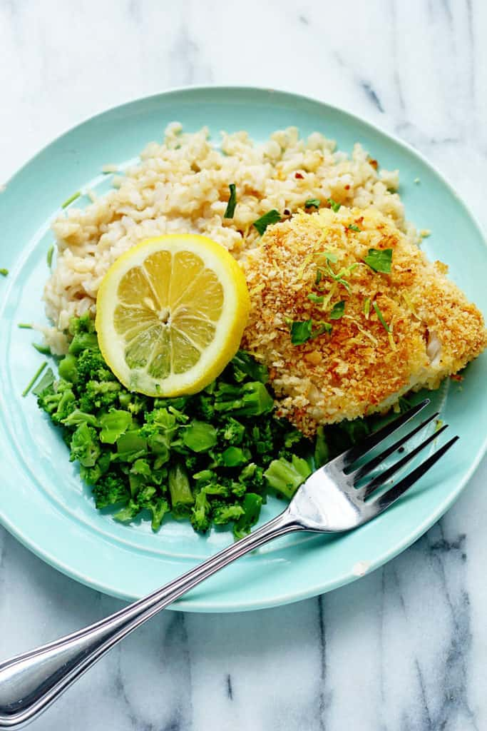 Baked Cod With Panko And Lemon