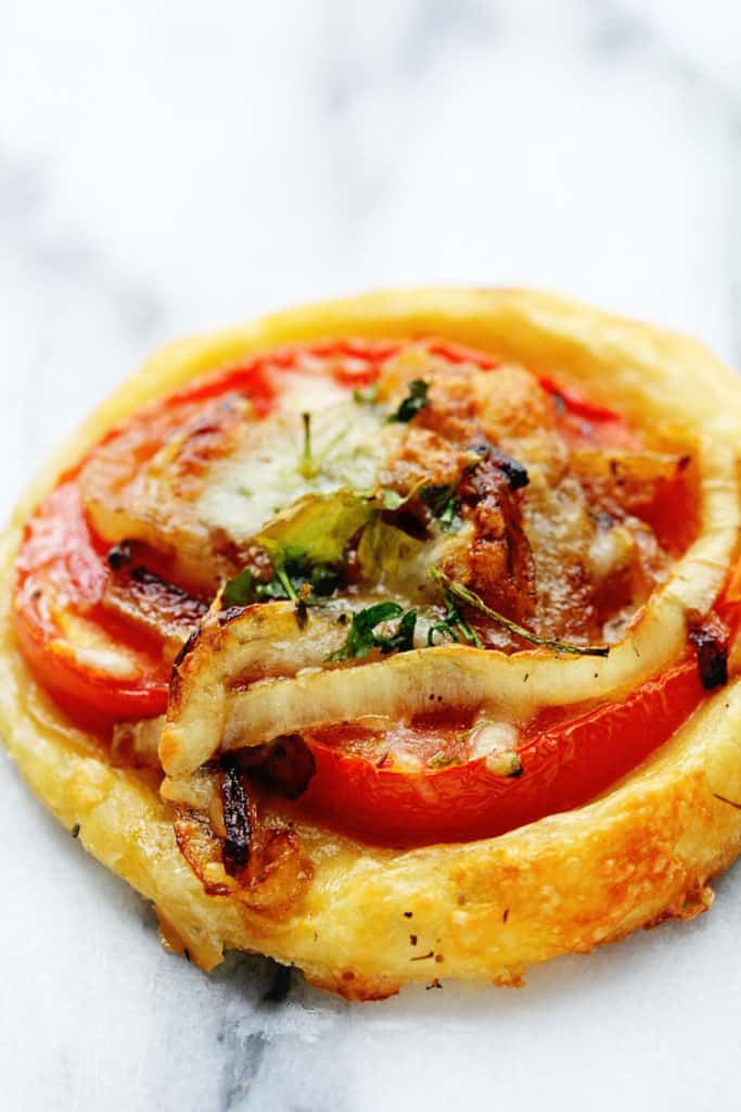 oscar tomato tarts 4 683x1024 - Delicious and Easy Mini Tomato Tart (Puff Pastry) Recipe- Perfect for Entertaining!
